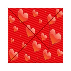 Red Hearts Acrylic Tangram Puzzle (6  x 6 )