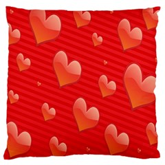 Red Hearts Large Cushion Case (two Sides)