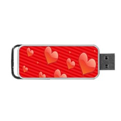 Red Hearts Portable USB Flash (One Side)
