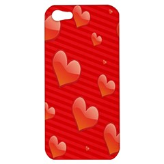 Red Hearts Apple iPhone 5 Hardshell Case