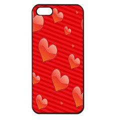 Red Hearts Apple iPhone 5 Seamless Case (Black)