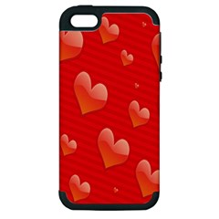 Red Hearts Apple Iphone 5 Hardshell Case (pc+silicone)