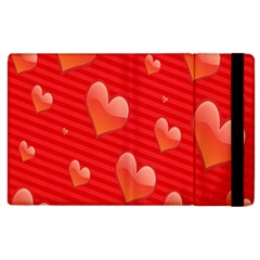 Red Hearts Apple iPad 2 Flip Case