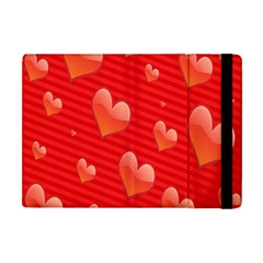 Red Hearts Apple iPad Mini Flip Case