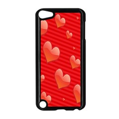 Red Hearts Apple iPod Touch 5 Case (Black)