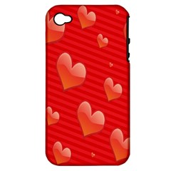 Red Hearts Apple iPhone 4/4S Hardshell Case (PC+Silicone)