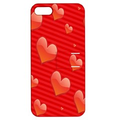 Red Hearts Apple iPhone 5 Hardshell Case with Stand