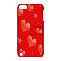 Red Hearts Apple iPod Touch 5 Hardshell Case with Stand