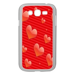 Red Hearts Samsung Galaxy Grand DUOS I9082 Case (White)