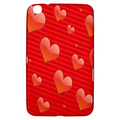 Red Hearts Samsung Galaxy Tab 3 (8 ) T3100 Hardshell Case