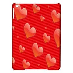 Red Hearts iPad Air Hardshell Cases