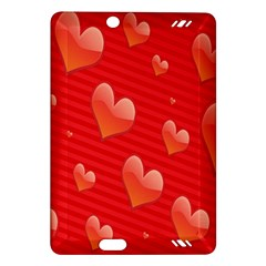 Red Hearts Amazon Kindle Fire HD (2013) Hardshell Case