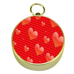Red Hearts Gold Compasses