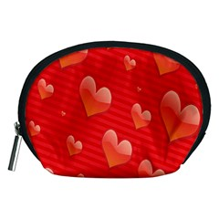 Red Hearts Accessory Pouches (Medium)