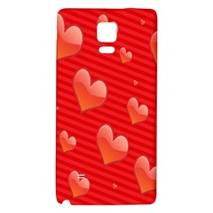 Red Hearts Galaxy Note 4 Back Case