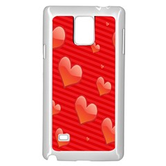 Red Hearts Samsung Galaxy Note 4 Case (White)
