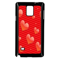Red Hearts Samsung Galaxy Note 4 Case (black)