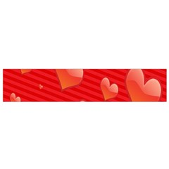 Red Hearts Flano Scarf (Small)