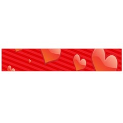 Red Hearts Flano Scarf (Large)