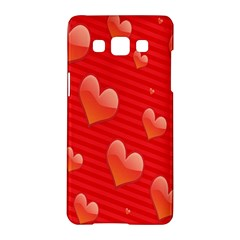 Red Hearts Samsung Galaxy A5 Hardshell Case