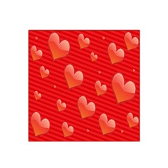 Red Hearts Satin Bandana Scarf