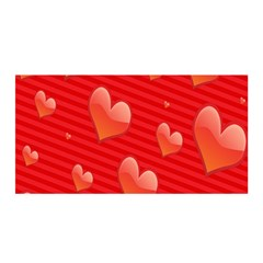 Red Hearts Satin Wrap