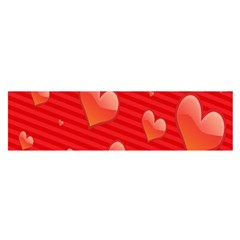 Red Hearts Satin Scarf (Oblong)
