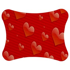 Red Hearts Jigsaw Puzzle Photo Stand (Bow)
