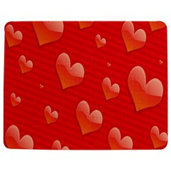 Red Hearts Jigsaw Puzzle Photo Stand (Rectangular)