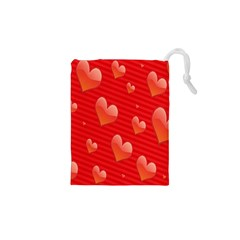 Red Hearts Drawstring Pouches (XS)