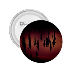 Silhouette Of Circus People 2.25  Buttons