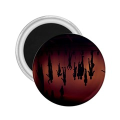 Silhouette Of Circus People 2.25  Magnets