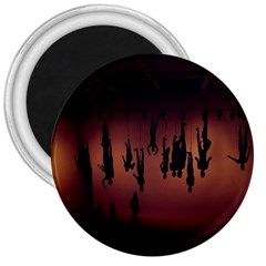 Silhouette Of Circus People 3  Magnets