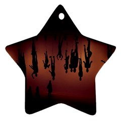 Silhouette Of Circus People Ornament (Star)