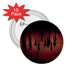 Silhouette Of Circus People 2.25  Buttons (10 pack)