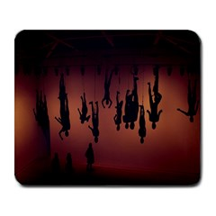 Silhouette Of Circus People Large Mousepads
