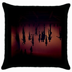 Silhouette Of Circus People Throw Pillow Case (Black)