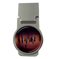 Silhouette Of Circus People Money Clips (Round)