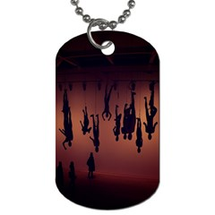 Silhouette Of Circus People Dog Tag (One Side)