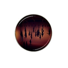 Silhouette Of Circus People Hat Clip Ball Marker