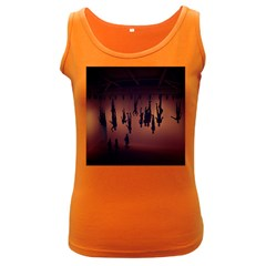 Silhouette Of Circus People Women s Dark Tank Top