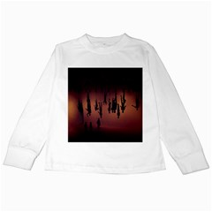 Silhouette Of Circus People Kids Long Sleeve T-Shirts