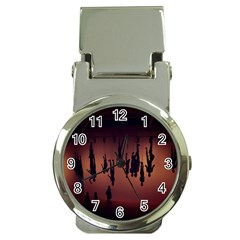 Silhouette Of Circus People Money Clip Watches