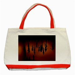 Silhouette Of Circus People Classic Tote Bag (Red)