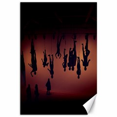 Silhouette Of Circus People Canvas 12  x 18