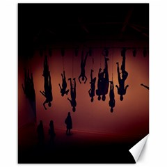Silhouette Of Circus People Canvas 16  x 20
