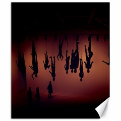 Silhouette Of Circus People Canvas 20  x 24