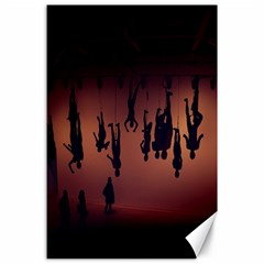 Silhouette Of Circus People Canvas 24  x 36