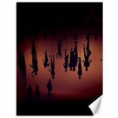Silhouette Of Circus People Canvas 36  x 48
