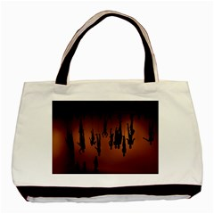 Silhouette Of Circus People Basic Tote Bag (Two Sides)